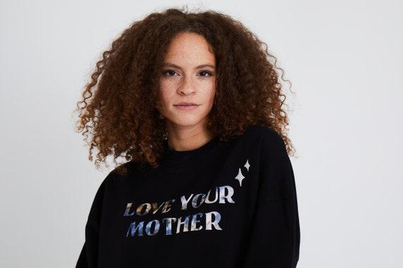 LOVE YOUR MOTHER Black Crewneck Sweatshirt