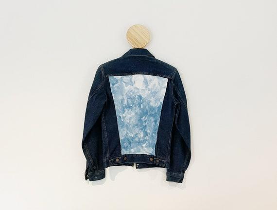 Denim Daydream Jacket / Tie Dye Levis Vintage Trucker Jacket 34L