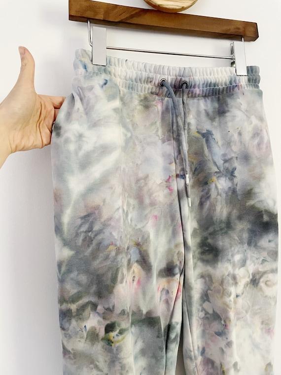 Geode Hand Dyed Fleece Sweatpants / Ice Dyed / Tie Dye