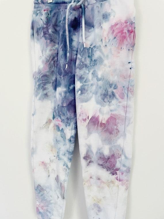 Alpenglow Hand Dyed Fleece Sweatpants / Ice Dyed Tie Dye