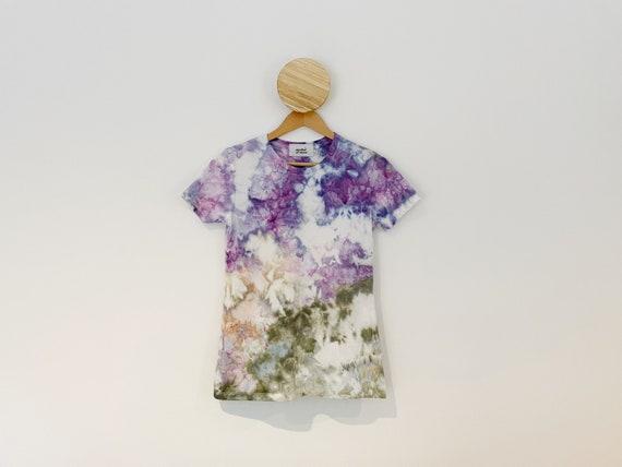 Wild Lavender Hand Dyed Ice Dye Tie Dye T Shirt / Tee