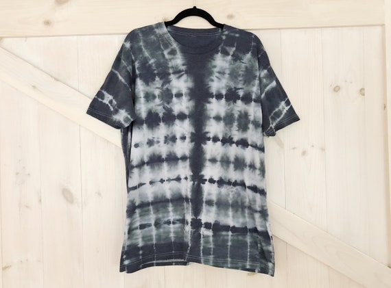 Thunder Black and White Hand Dyed XL Tie Dye T Shirt