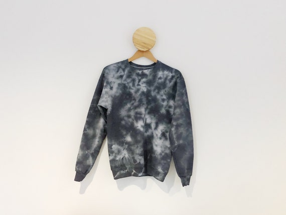 Thunder Black and White Small Tie Dye Sweatshirt