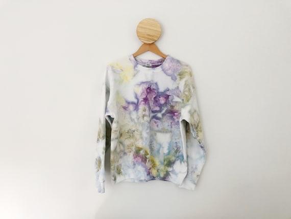 Wild Lavender Hand Dyed Ice Dye Tie Dye Sweatshirt