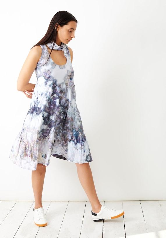 Geode Tiered Racerback Dress