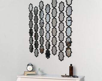 "36x30"" Sunshine Wall Decor Mirrors 7 pieces | Wood and Acrylic Decorative"