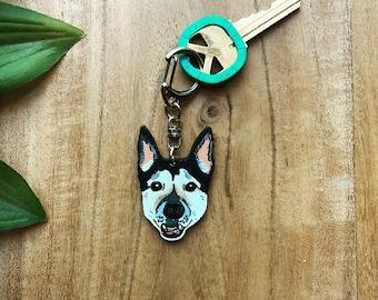 Custom Personalized Pet Keychain, Custom Dog Cat Keychain, Dog Keychain Gift, Customized Pet Keychain