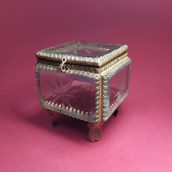 vintage Iron CASKET  MAX ROBILLARD bohemian artist jewelry box 1960s 1970s