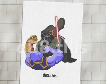 dB8.this | Thanos vs Darth Vader | gallery quality canvas print artwork | Star Wars | Marvel | BJJ MMA UFC fans | Gift for Him | Jiu Jitsu
