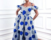 African print dress maxi gown, African prom dress, prom fashion, wedding fashion, African wedding, Women clothing, African print wax