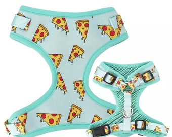 Pizza dog Harness, Funny Dog Harness Set. No pull dog harness, Cute Harness For Puppies, large Dog Harness, Puppy Harness Vest Adjustable