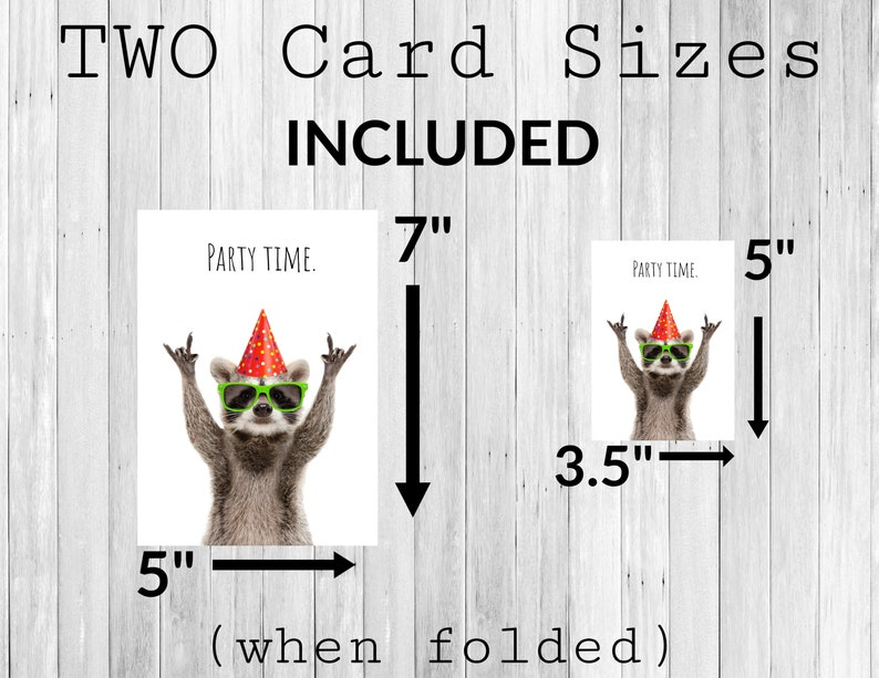 Party Time Birthday Card Congratulations Downloadable Instant Download /& Print Graduation Card Promotion Card Printable Card