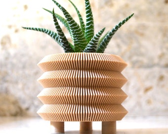 "Wood Japanese ""PAGODA"" Planter"