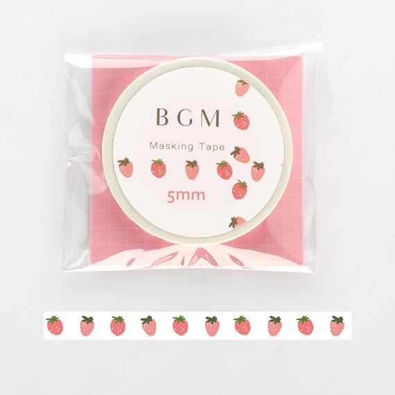 5mm BGM Slim Washi Tape Little Strawberry