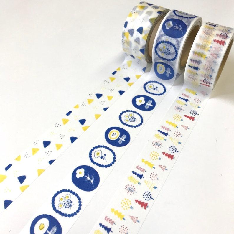 Papier Platz x kurogoma nordic design Washi Tape simple little triangle pattern 20mm Scandinavian art style