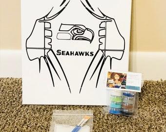 Seahawks Painting Etsy