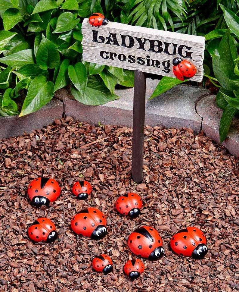 Ladybug Painted Rocks image 1