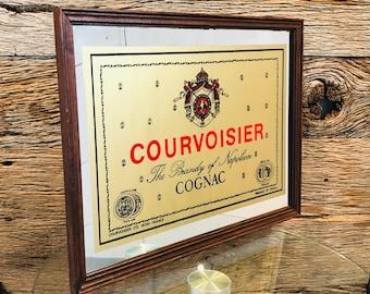 VINTAGE Green ASHTRAY with COURVOISIER Cognac Advertising Rare Bernardaud Limoges France