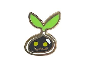 Nyokimon Mini Digimon Enamel Pin - anime manga cute flair lapel pin ita bag fandom tamagotchi virtual pet nostalgia 90s