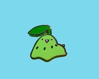 Chikorita Blob Silly Pin - pokemon grass type kawaii doodle enamel pin flair badge lapel pin hat pin ita bag anime manga fandom