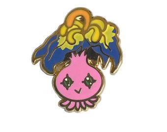 Yokomon Digimon Mini Enamel Pin - anime manga cute flair lapel pin ita bag fandom tamagotchi virtual pet nostalgia 90s