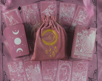 Tarot Deck Cards Tarot Cards 78 Plastic Pink White Preorder Tarot card with book Tarot Gift Set