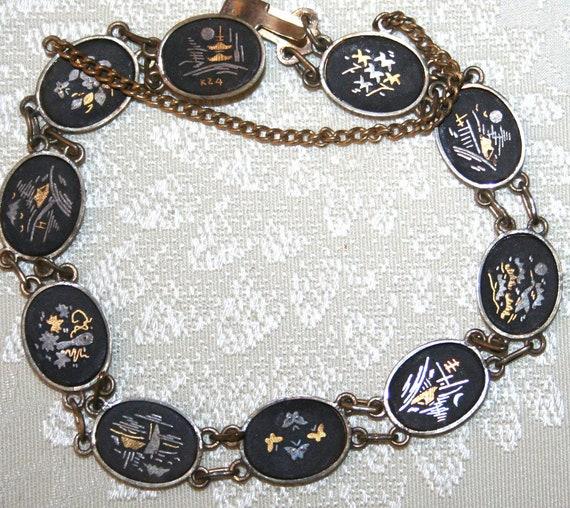 Vintage Japanese Damascene Bracelet