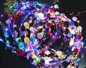 Flower Headband Lights