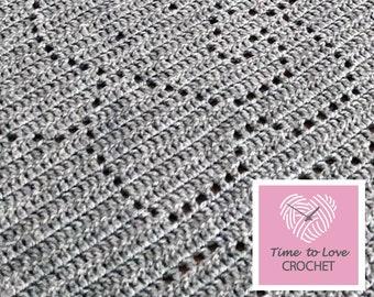 Crochet Pattern - Elephant Blanket