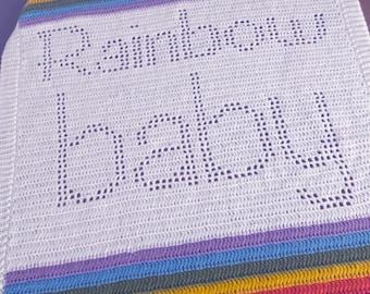 Crochet Pattern - Rainbow Baby