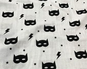 BABY MUSLIN SWADDLE, Swaddle Blanket, Organic Swaddle Muslin superhero Monochrome