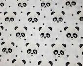 BABY MUSLIN SWADDLE, Swaddle Blanket, Organic Swaddle Muslin Panda Bear Monochrome