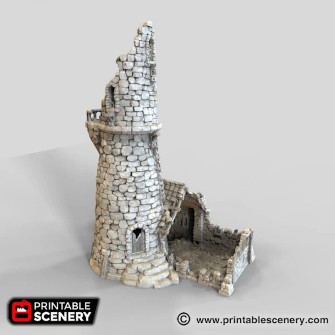 Ruined Lighthouse 15mm 28mm for D&D Terrain Warhammer 40k image 10