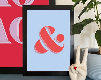 Ampersand - And Sign/Symbol Typographic Print Wall Art