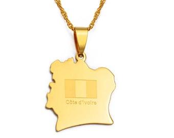 Gold-plated pendant Ivory Coast