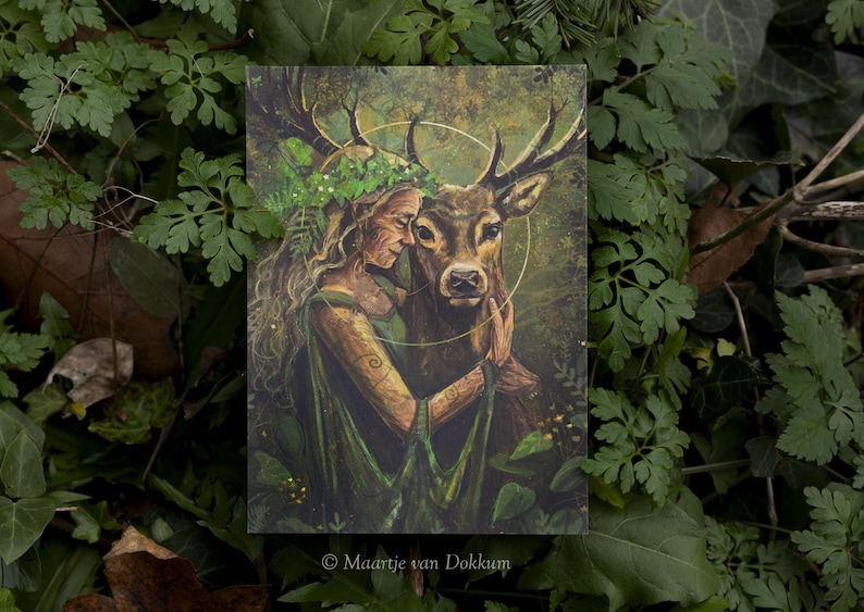 Card Mother Earth fantasy art printed on sustainable paper