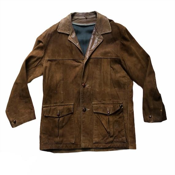 Vintage Suede Jacket Mens Size Medium