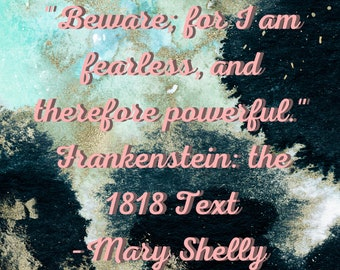 SVG or PNG cutting file  for Cricut cutting machines Beware for I am fearess wall art Mary Shelly Frankenstein printing scrapbooking