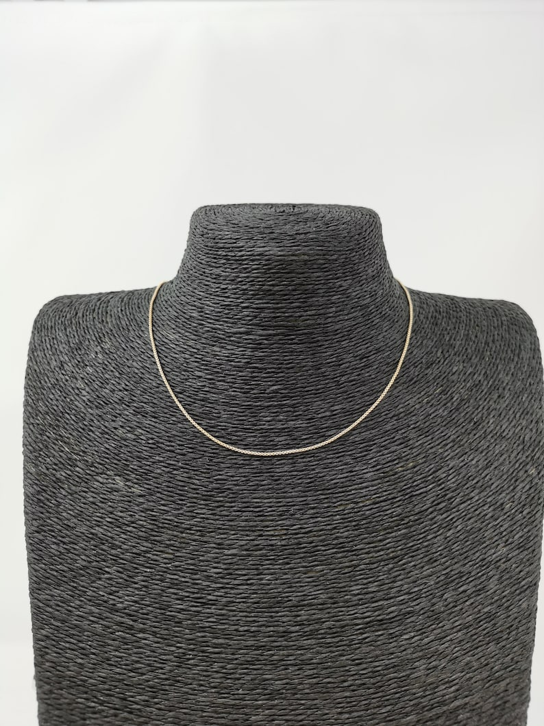 18K 15.5 Inch Real Gold Plated Cable Necklace Chain for Jewelry Necklace Making 15 12 x 132 x 132 Inches