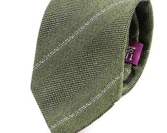 Green textured tie   Etsy