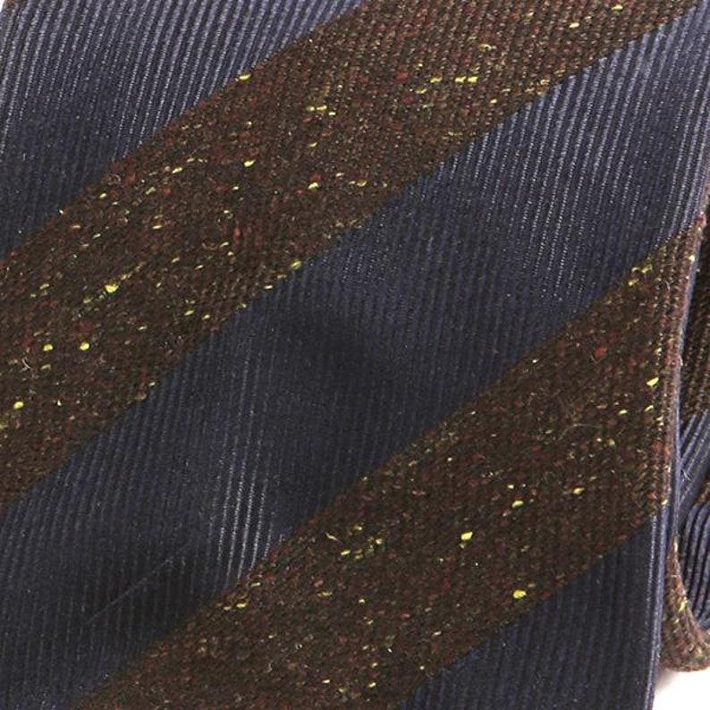 Striped Tie Wool Tie Navy Blue Striped Grain