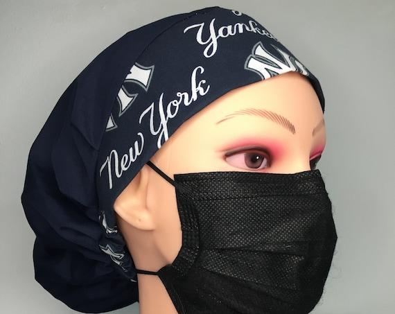 NY New York Yankees MLB American League East Medical Scub Cap Bouffant