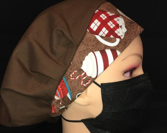 Winter Hot Chocolate Hot Cocoa Medical Scrub cap/bouffant