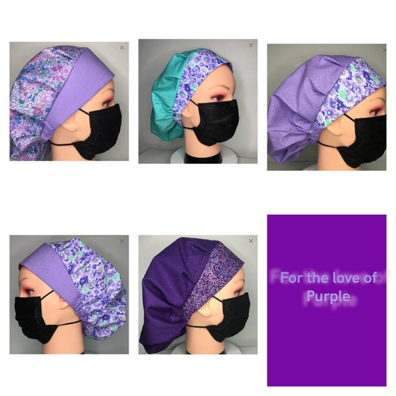 For the love of Purple Medical Scrub cap/bouffant