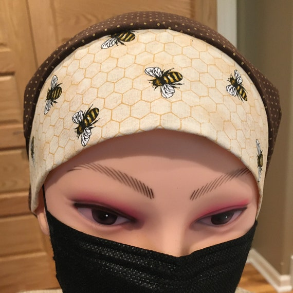 Busy Worker Bees Honeycomb medical Scrub Cap Bouffant