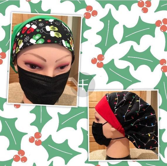 Christmas Holiday Winter Medical Scrub cap/bouffant