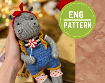 ENG pattern Sweet Tooth Lina crochet pattern amigurumi