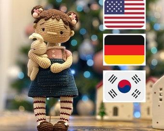 Crochet pattern for doll Little Polly, PDF ( English , Deutsche , Korean) amigurumi