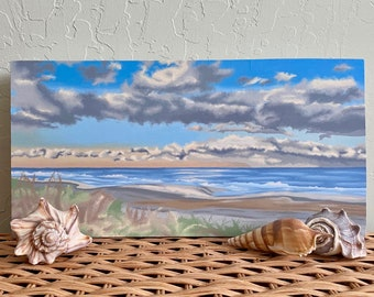 Outer Banks Oil Painting / Coastline Oil Painting / North Carolina Oil Painting / Beach Oil Painting / Original Oil Painting