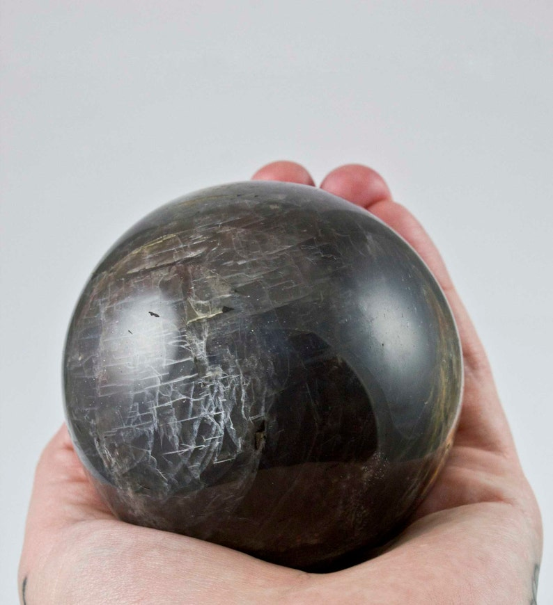 Large Black Moonstone Sphere